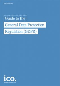 Cover page of the Guide to the General Data Protection Regulation
