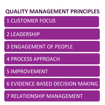 Principles of Quality Management – Customer Focus (next process)